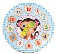 Деревянная игрушка Часы MD 1251, 27см, рамк
