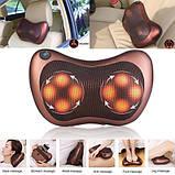Массажная подушка для спины и шеи универсальный массажер massage pillow for home and car, фото 2