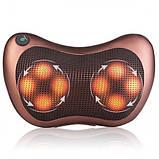 Массажная подушка для спины и шеи универсальный массажер massage pillow for home and car, фото 3