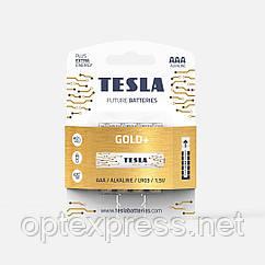 Батарейки TESLA AAA / LR03 / 1,5V (Alkaline) GOLD+ (4шт)