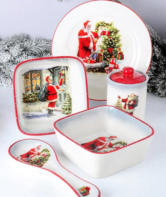 Новогодняя керамическая посуда от Lefard