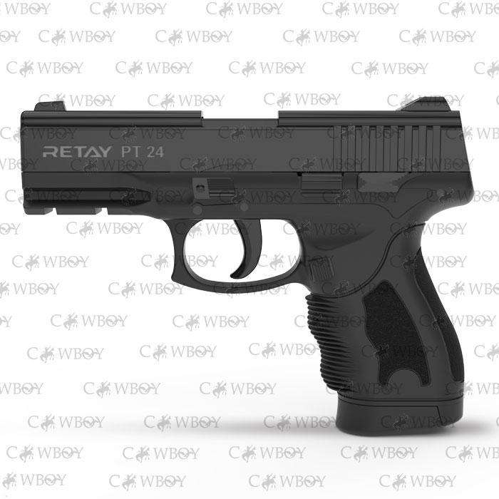 Пистолет стартовый Retay PT24, black