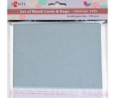 Набор серебристых заготовок для открыток 1 ВЕРЕСНЯ 15*15см 250г/м2