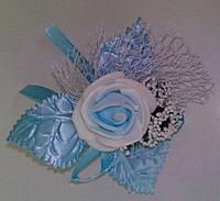 Свадебный цветок для гостей № 1 (голубые)