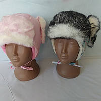Шапка-ушанка зимняя для девочек размер 50, фото 1