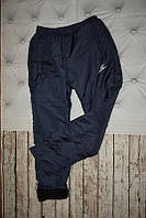 Зимние спортивные штаны из плащевки на флисе, теплые 48, 50,52,54,56