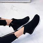 Женские демисезонные ботинки в черном цвете из натуральной замши  37 39 ПОСЛЕДНИЕ РАЗМЕРЫ, фото 4