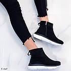 Женские демисезонные ботинки в черном цвете из натуральной замши  37 39 ПОСЛЕДНИЕ РАЗМЕРЫ, фото 6