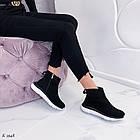 Женские демисезонные ботинки в черном цвете из натуральной замши  37 39 ПОСЛЕДНИЕ РАЗМЕРЫ, фото 7