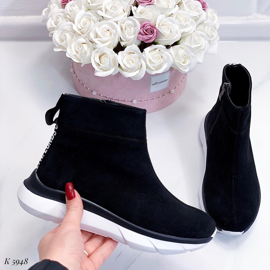 Женские демисезонные ботинки в черном цвете из натуральной замши  37 39 ПОСЛЕДНИЕ РАЗМЕРЫ