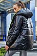 Стильная  двухсторонняя куртка осень-зима 1243.3686  черный с неоновым, фото 4