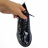 Туфлі жіночі лак, танкетка. Туфлі Love (чорні), фото 3