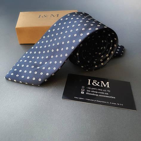 Галстук I&M Craft темно-синий в горох (020345), фото 2