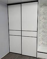Двери купе с крашенным стеклом Lacobel 9003