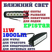 Дополнительные светодиодные фары ближнего света CYCLONE WL-301 18W