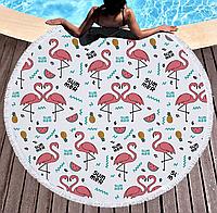 Пляжный коврик. Фламинго Summer. 150 см