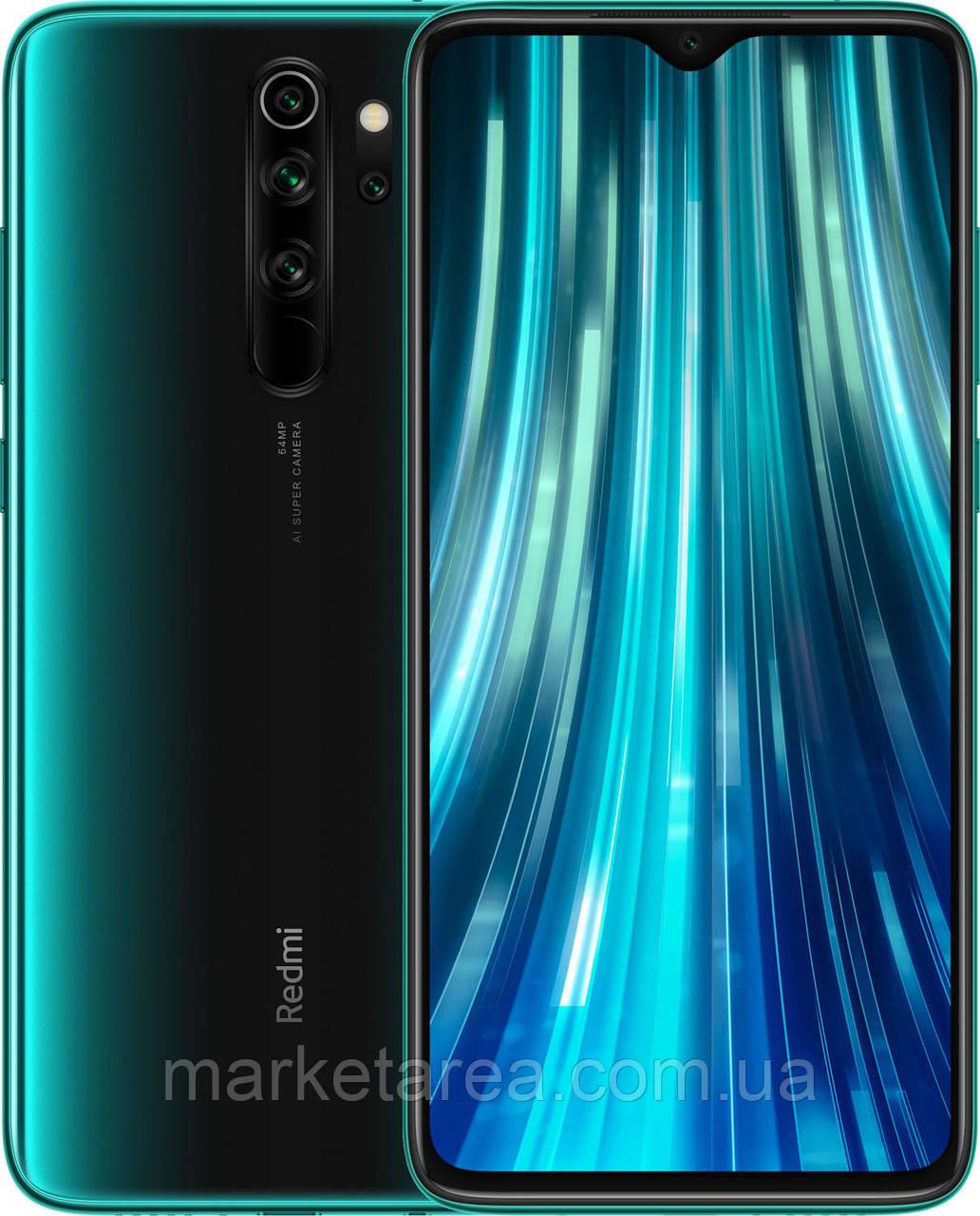 Смартфон зеленый с мощной батареей на 2 симки Xiaomi Redmi Note 8 Pro 6/128 гб Forest Green ЕВРОПА