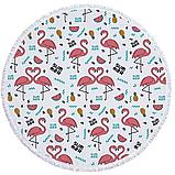 Пляжный коврик. Фламинго Summer. 150 см, фото 2