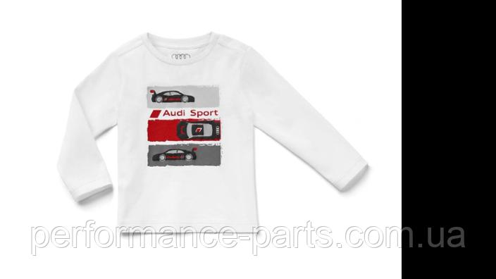 Детская футболка с длинным рукавом Audi Sport Longsleeve, Babys, white,3201900701