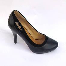 Туфлі жіночі чорні на підборах. Туфлі чорні