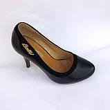 Туфли женские чёрные на каблуке. Туфли чёрные, фото 2