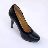 Туфли женские чёрные на каблуке. Туфли чёрные, фото 3