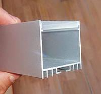 Алюминиевый профиль накладной для светодиодной LED ленты ЛС40 + рассеиватель