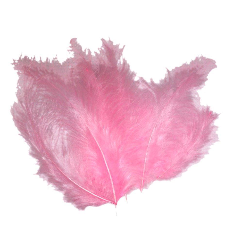 Декоративные перья розовые (100 шт)