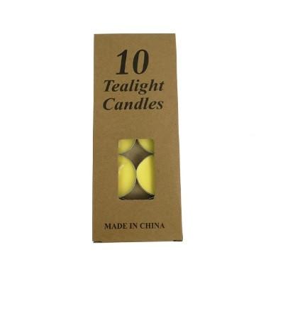 Набор желтых свечей таблетка