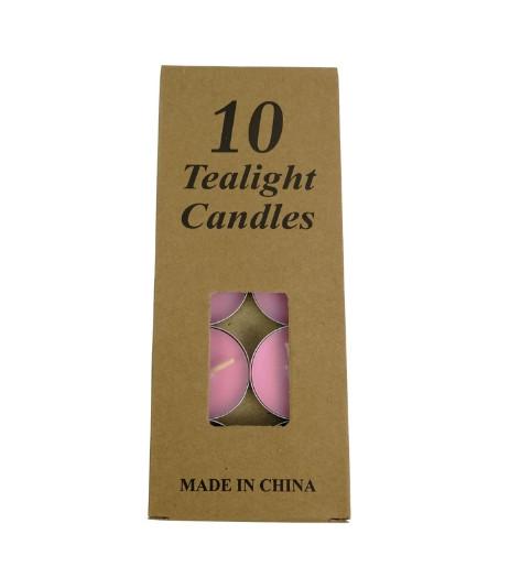 Розовые свадебные свечи 10 шт