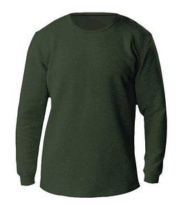 Термо-футболка мужская с длинным рукавом, зеленый М