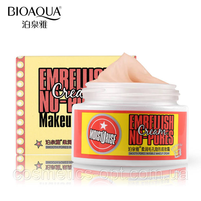 Увлажняющая база под макияж Bioaqua Embellish No-pores Cream, 50 г