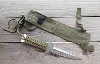 Ножей для метания со шнуровкой на рукояти цвета хаки + нейлоновый чехол, для охотника/ рыбака / туриста, фото 1