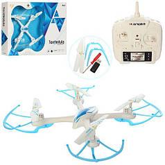 Радиоуправляемый квадрокоптер 2,4 gz Led 4 винта drone X-1505 белый
