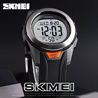 Skmei 1503 серые с металлическим кантом мужские спортивные часы, фото 1