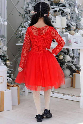 Детское нарядное платье  р.6-14 лет опт красное, фото 2