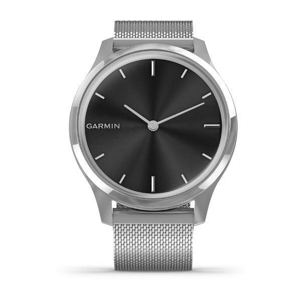 Фитнес часы Garmin Vivomove Luxe Premium, Silver-Black, Milanese