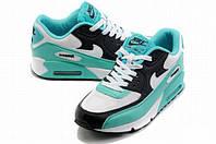 Кроссовки женские Nike Air Max 90 Hyperfuse D60 бирюзовые
