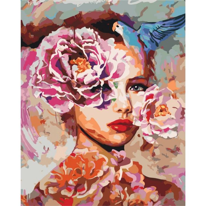Картина по номерам Женская фантазия  КНО2669 Идейка 40x50см