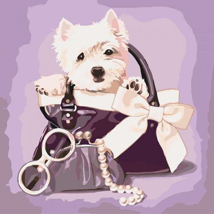 Картина по номерам Любимый щенок КНО4033 Идейка 40x40см
