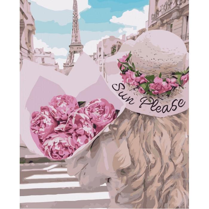 Картина по номерам Влюбленная в Париж КНО4551 Идейка 40x50см