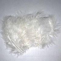 Декоративные перья SoFun 5-10 см белые 100 шт, фото 1