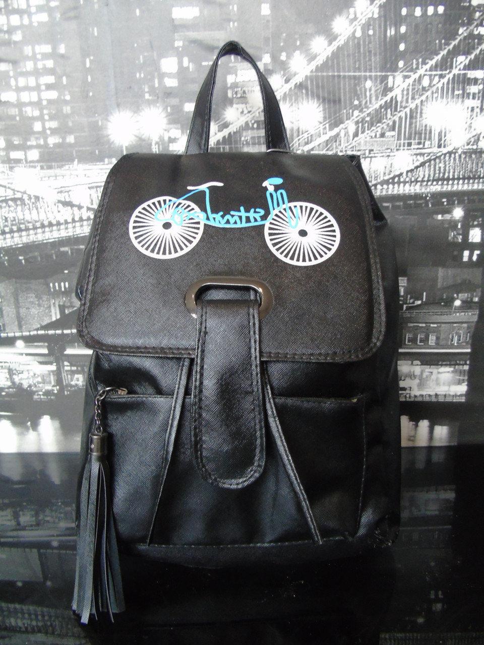 Рюкзак чорний жіночий або підлітковий. Рюкзак жіночий. Підлітковий Рюкзак чорний.