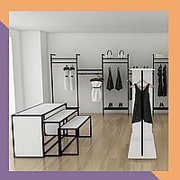 Сварная мебель для магазина одежды