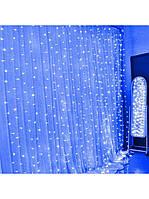 Гирлянда Штора 320 LED, 3m 2m, Синий, фото 1