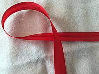 Коса бейка атласна червона, ширина 1,5 см, фото 1