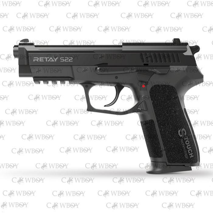 Пистолет стартовый Retay S22, black