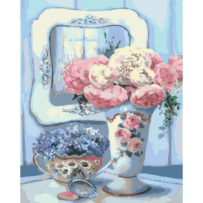 Картина за номерами Бірюзовий натюрморт КНО2038 Ідейка 40х50см