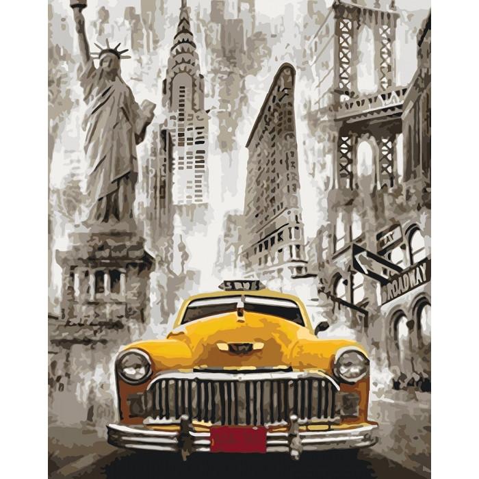 Картина по номерам Такси Нью-Йорка  КНО3506 Идейка 40x50см