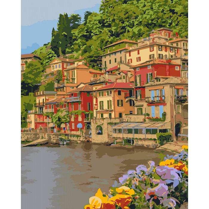 Картина по номерам Набережная Италии КНО2259 Идейка 40x50см